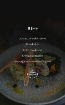 Restoran Dubrovnik Menu Juhe