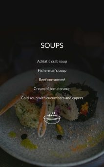 Restaurant Dubrovnik Menu Soups