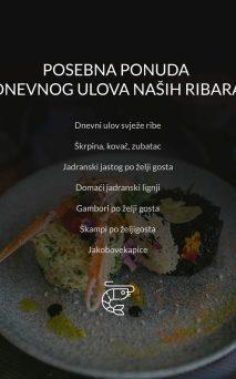Restoran Dubrovnik Menu Posebna Ponuda