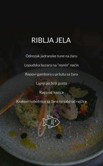 Restoran Dubrovnik Menu Riblja Jela
