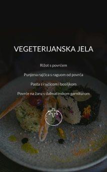 Restoran Dubrovnik Menu Vegeterijanska Jela