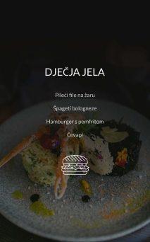 Restoran Dubrovnik Menu Dječja Jela