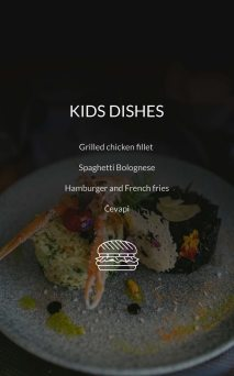 Restaurant Dubrovnik Menu Kids Dishes