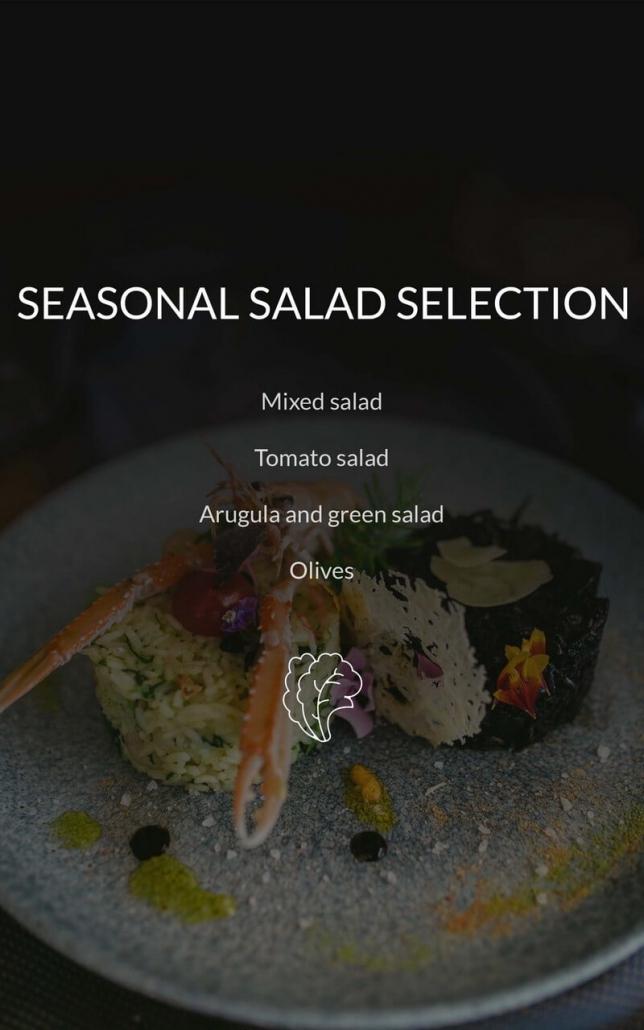 Restaurant Dubrovnik Menu Salad